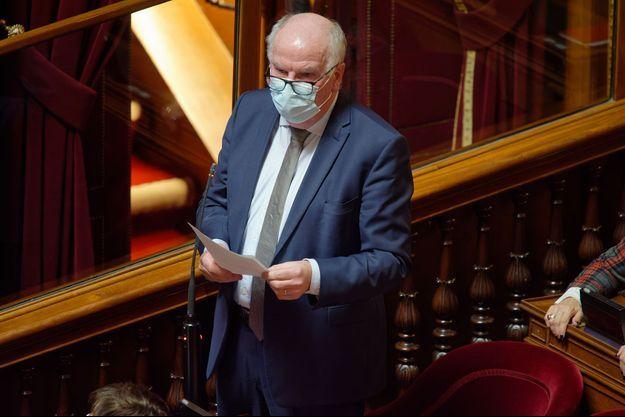 Le sénateur Eric Bocquet au Sénat en janvier dernier.