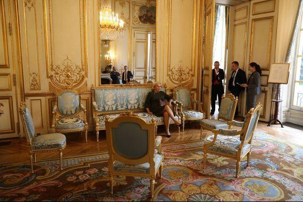 Evelyne Richard à l'Elysée le 25 septembre 2017.