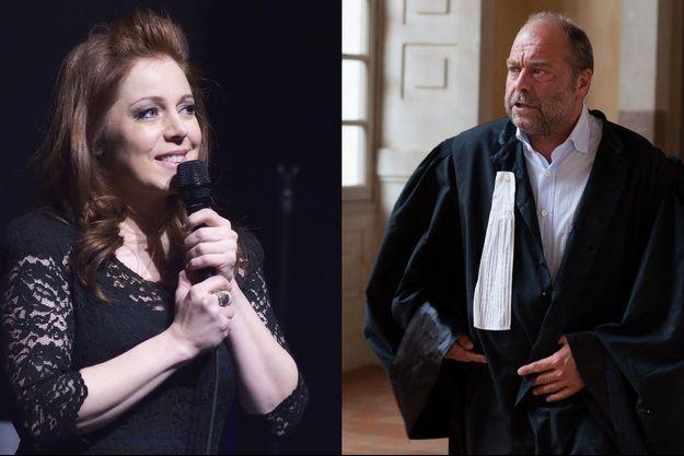 Isabelle Boulay et Eric Dupond-Moretti en 2015. (Montage).
