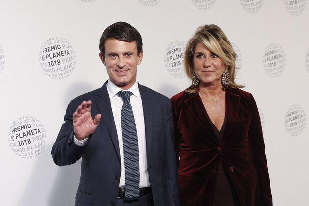 Manuel Valls et Susana Garrido le 15 octobre 2018.
