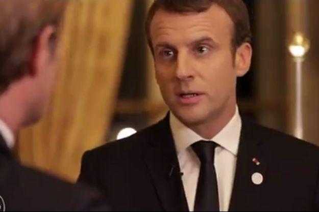 Emmanuel Macron face à Laurent Delahousse dimanche soir sur France 2.