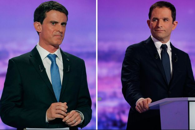 Manuel Valls et Benoît Hamon.
