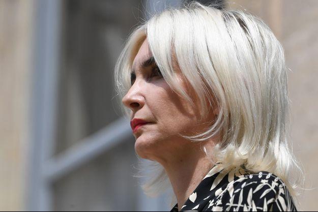 Séverine Servat de Rugy , le 17 juillet 2019 lors du départ de son époux au ministère de l'Ecologie.