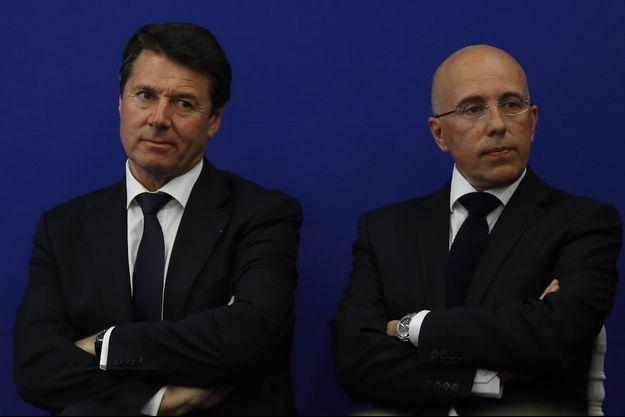 Christian Estrosi et Eric Ciotti, ici en mars 2014 à Nice.