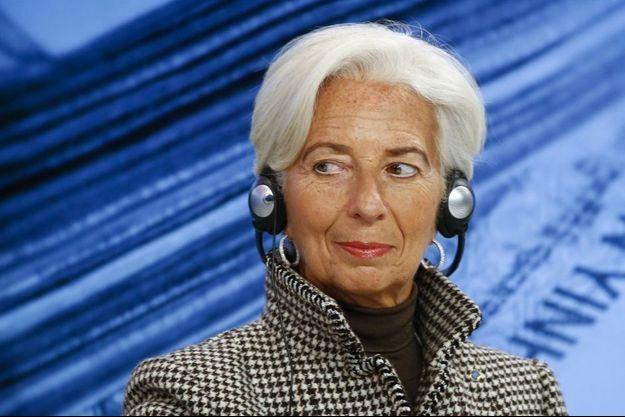 Christine Lagarde au forum économique mondial de Davos, jeudi dernier.