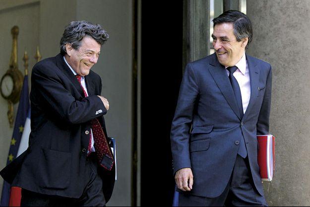 Jean-Louis Borloo et François Fillon, au temps où ce dernier était à Matignon.
