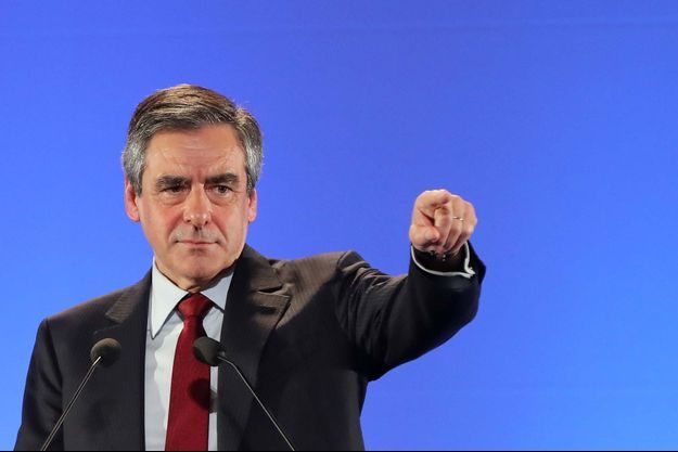 François Fillon lors de son meeting à Nice le 17 avril.