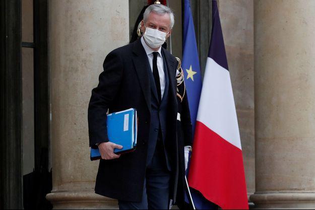 Bruno Le Maire à l'Elysée début janvier.