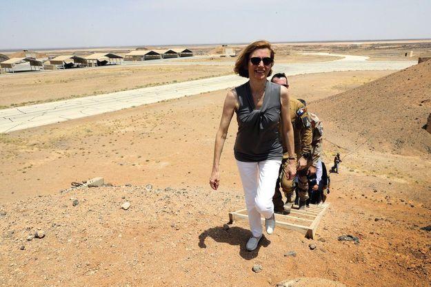 La ministre, en Jordanie, le 18 juillet, rencontrait des pilotes français en mission contre l'EI.