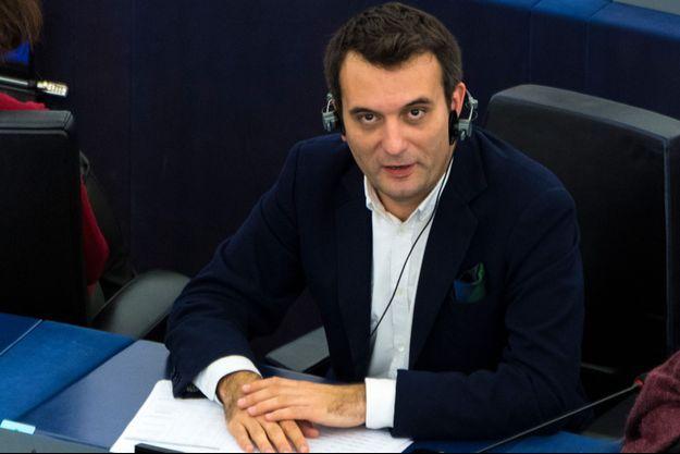 Florian Philippot au Parlement européen en octobre.