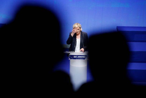 Marine Le Pen lors du 16e Congrès du Front national à Lille.