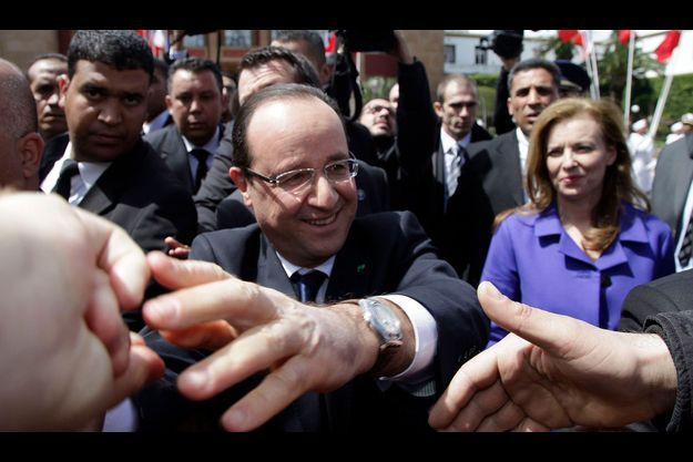 François Hollande s'offre un bain de foule au Maroc, jeudi dernier.