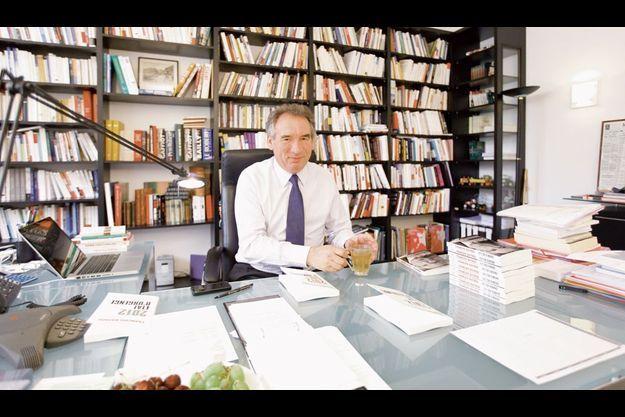 Le président du MoDem, dans son bureau de la rue de l'Université, dans le VIIe arrondissement de Paris.