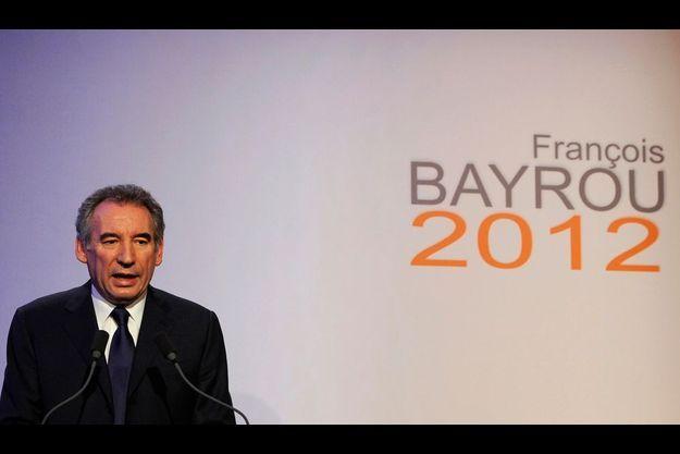 François Bayrou, à la Maison de la Chimie.