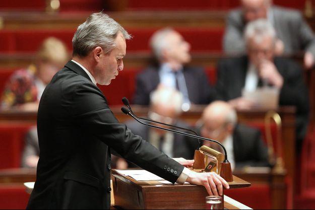 François de Rugy à la tribune de l'Assemblée nationale en avril 2014.