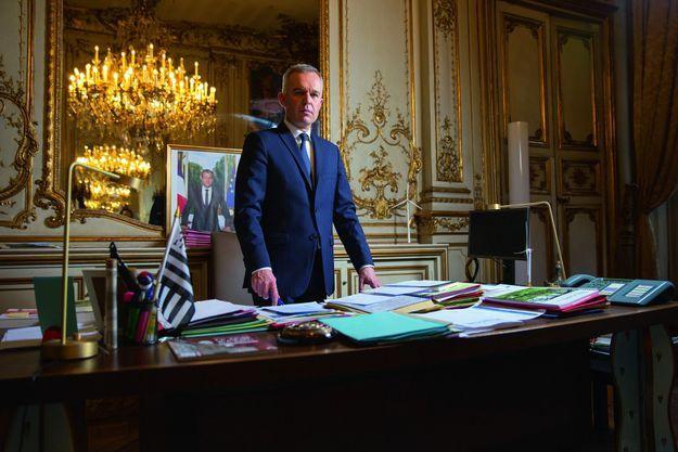 François de Rugy dans son bureau, au ministère de la transition écologique et solidaire, le 25 novembre.
