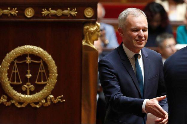 François de Rugy lors de son arrivée à l'Assemblée nationale