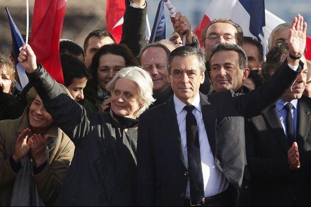Penelope et François Fillon le 5 mars 2017 à Paris.