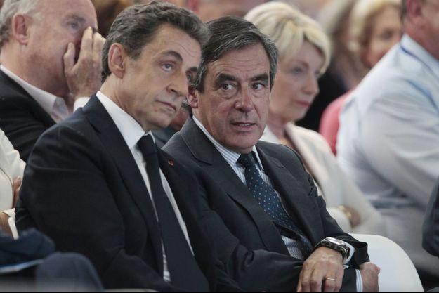 Nicolas Sarkozy et François Fillon le 30 mai 2015 à Paris.