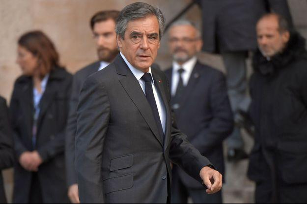 François Fillon, ici lors des obsèques de Jacques Chirac fin septembre.