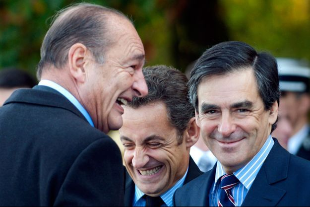 François Fillon aux côtés de Jacques Chirac et Nicolas Sarkozy à Colombey-les-Deux-Eglises, en 2008.