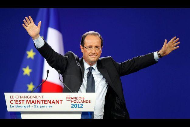 François Hollande lors du meeting du Bourget.