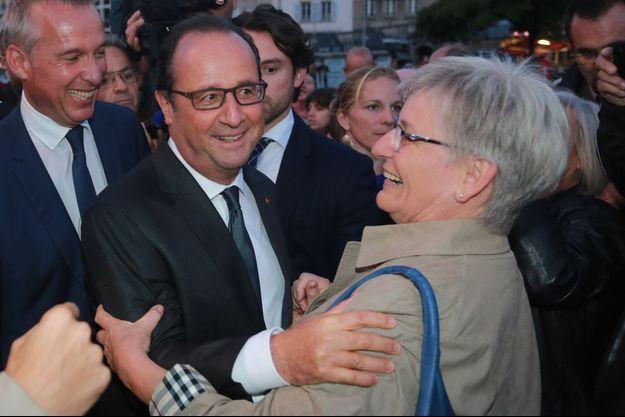 François Hollande à Tulle, en septembre 2015.