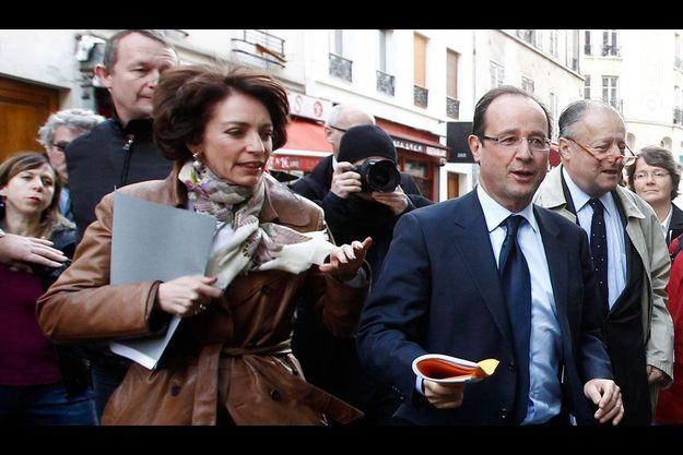 François Hollande et Marisol Touraine visitent un centre Emmaüs parisien, le 14 décembre dernier.
