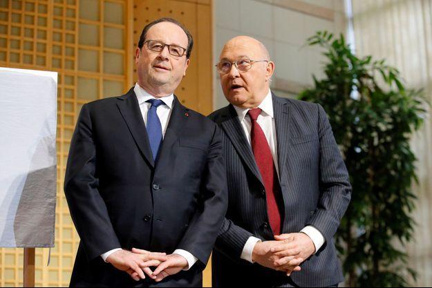 François Hollande et Michel Sapin à Bercy, en mars dernier.