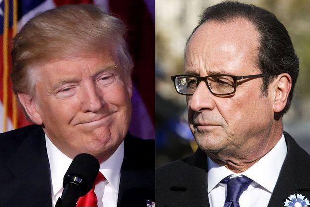 Hollande et Trump se sont entretenus au téléphone vendredi.