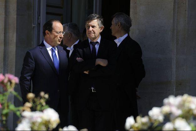 François Hollande et Jean-Pierre Jouyet, le 21 juin.