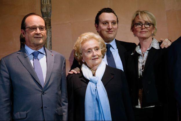 Francois Hollande, Bernadette Chirac, Martin Rey-Chirac et Claude Chirac