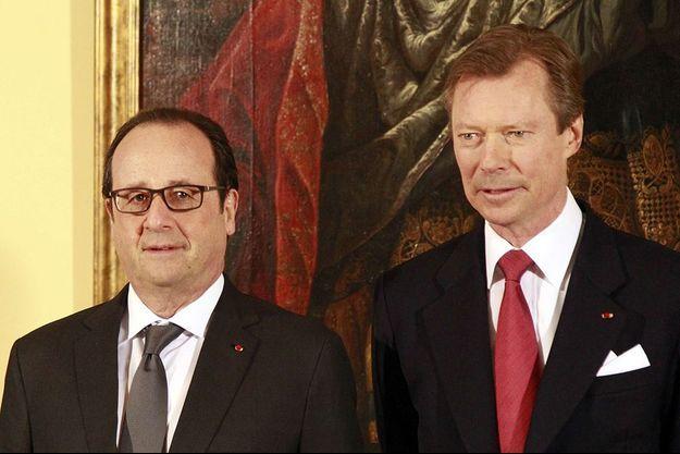 François Hollande et Henri de Luxembourg en 2015.