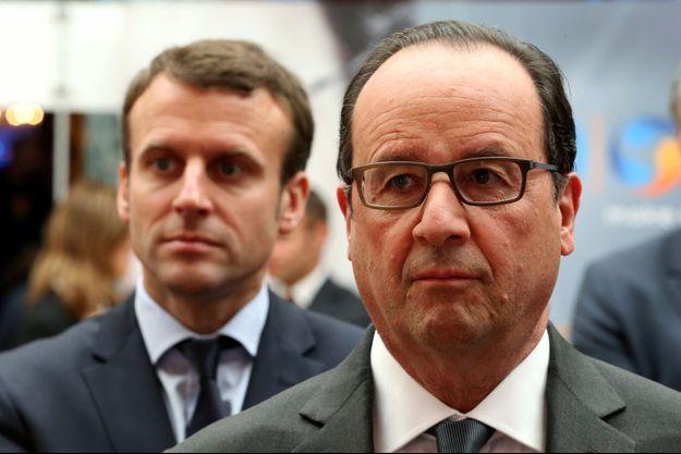 François Hollande et Emmanuel Macron, à l'Elysée, le 23 mai.