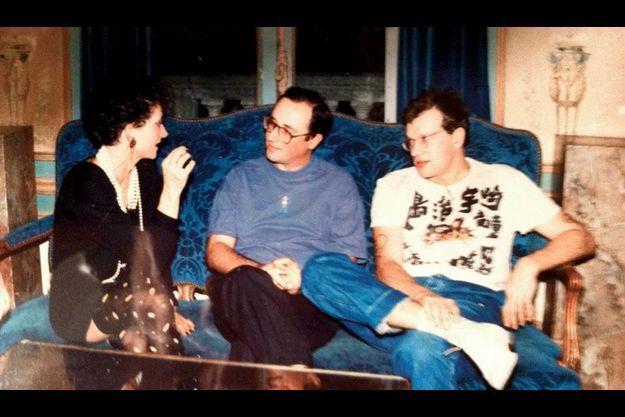 1979, aux côtés de Jean-Louis Audren et d'une amie, lors d'une fête aux Erables, une salle de réception à Meudon.