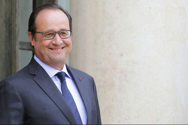 François Hollande à l'Elysée le 18 août.