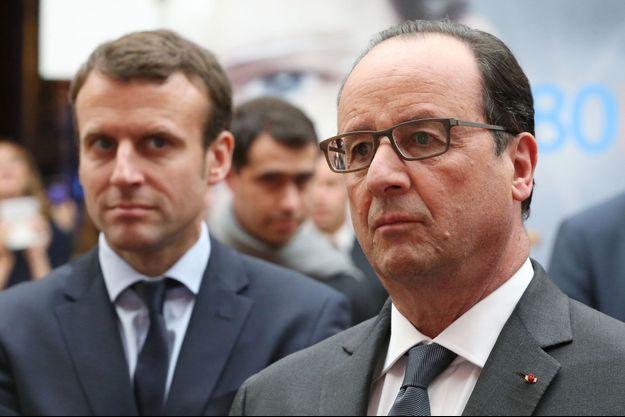 Emmanuel Macron et François Hollande à l'Elysée en mai dernier.