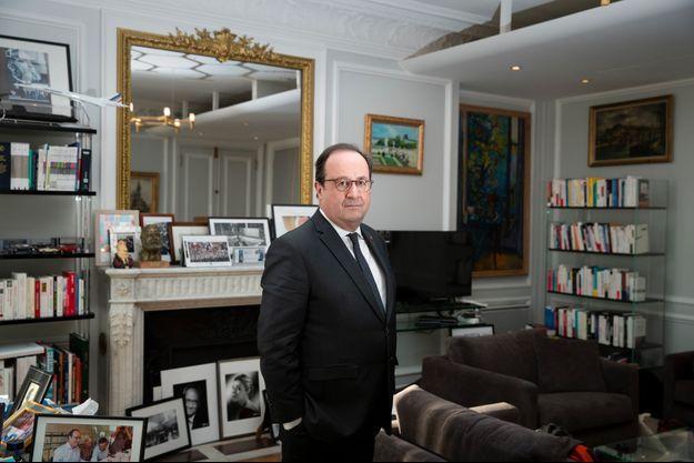 François Hollande dans son bureau parisien, en février dernier.