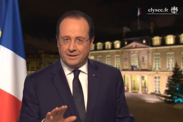 François Hollande lors des traditionnels voeux présidentiels.