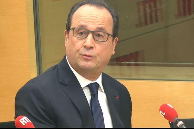 François Hollande, lundi matin sur RTL