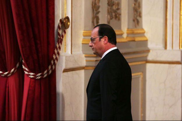 François Hollande à l'Elysée, le 30 mars 2016.