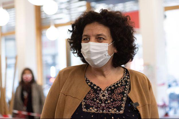 Frédérique Vidal, ministre de l'Enseignement supérieur, dans un restaurant universitaire à Paris, le 9 février.