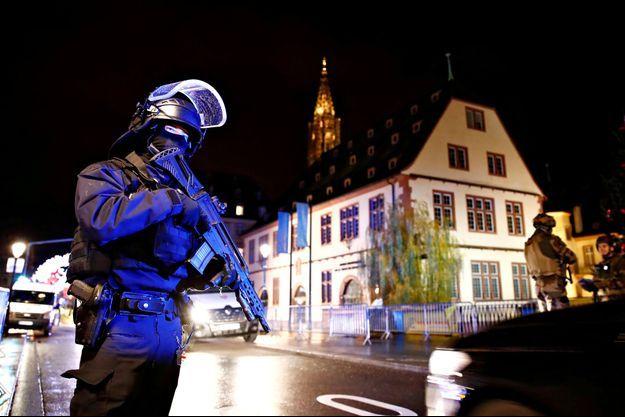La police sur place à Strasbourg.