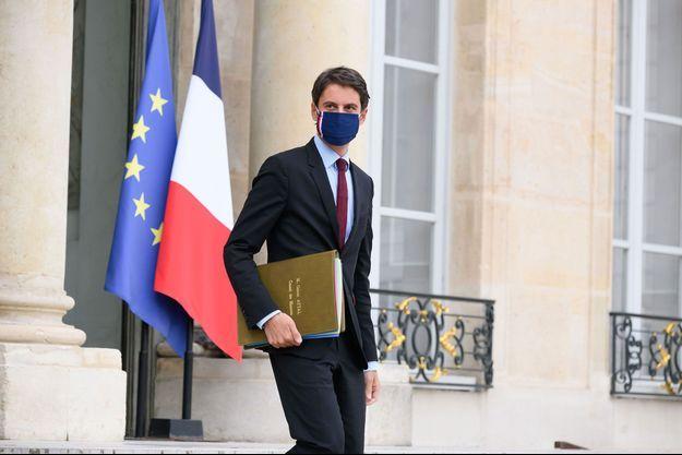 Gabriel Attal à la sortie du Conseil des ministres, mercredi.