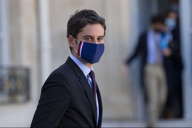 Gabriel Attal en mars 2021 à l'Elysée.