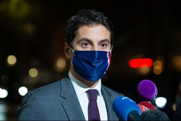 Gabriel Attal, porte parole du gouvernement, le 27 octobre 2020.
