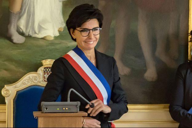 Rachida Dati, début septembre célébrant un mariage, à la mairie du 7e arrondissement de Paris.