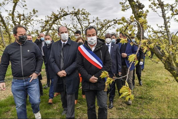 Jean Castex à Colombier-le-Cardinal (Ardèche) le 10 avril 2021.