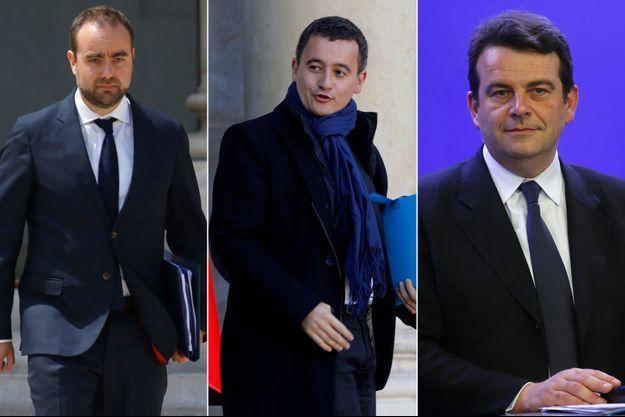 Sebastien-Lecornu-Gerald-Darmanin-Thierry-Solere