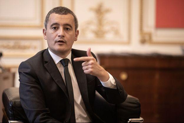 Gérald Darmanin, dans son bureau au ministère de l'Intérieur, le 2 octobre.